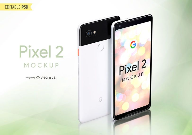 Google Pixel 2 Mockup In PSD Format Design Shows The And Includes A
