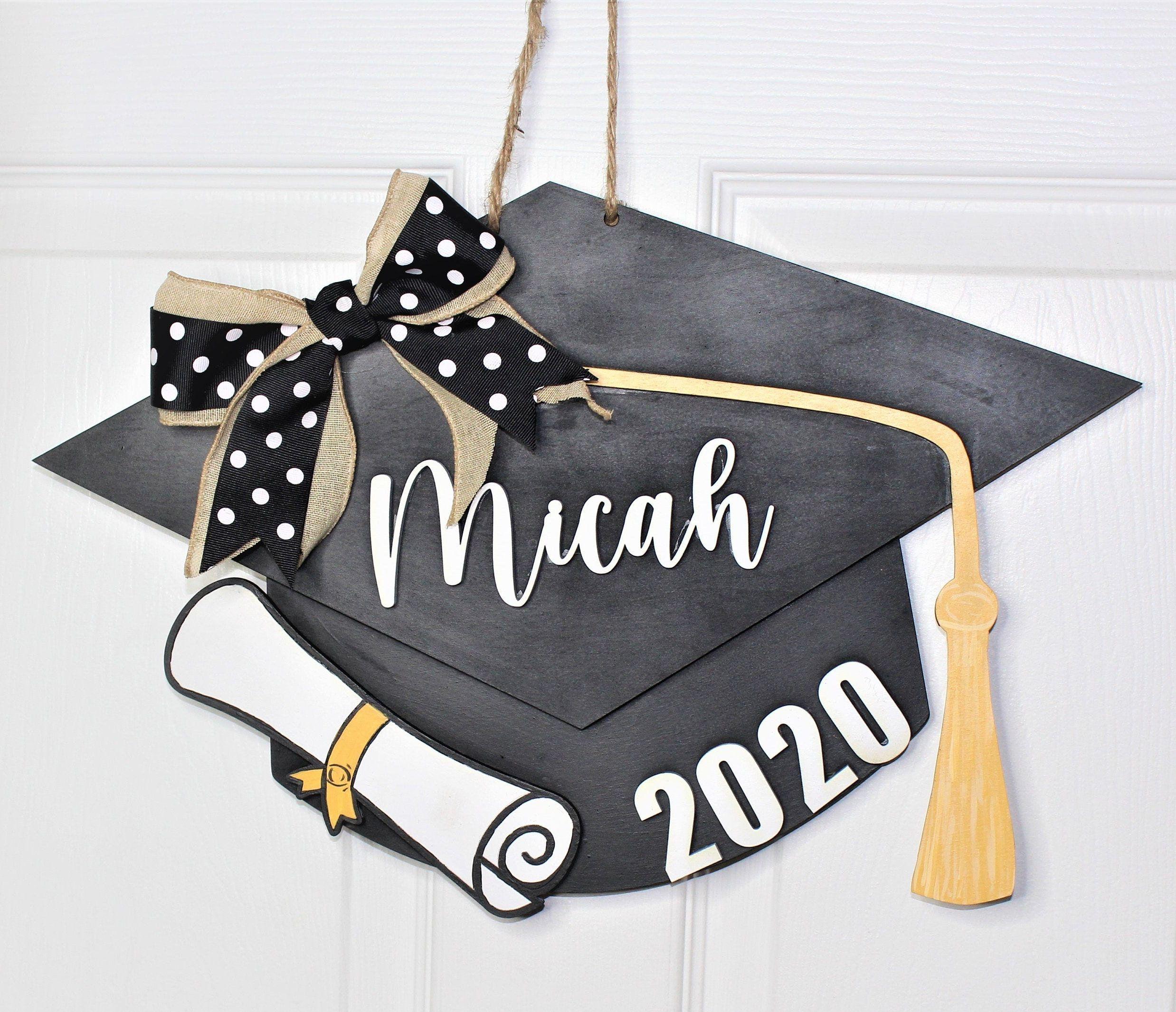 Graduation Cap Door Hanger School Door Hanger Graduation Etsy Graduation Cap Graduation Hat Custom Graduation Caps