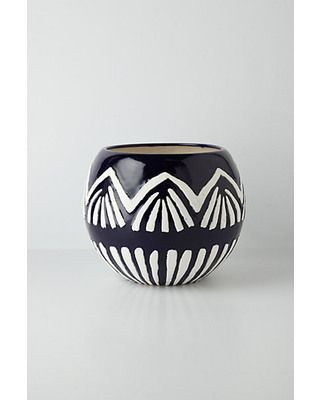 Show off your plants with this graphic pot! Get it here: http://www.bhg.com/shop/anthropologie-ormand-garden-pot-p5182ec38e4b0aae0257cd6f2.html?mz=a