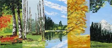 "Saatchi Art Artist Eileen Lunecke; Painting, ""Fragments nr. 3"" #art"