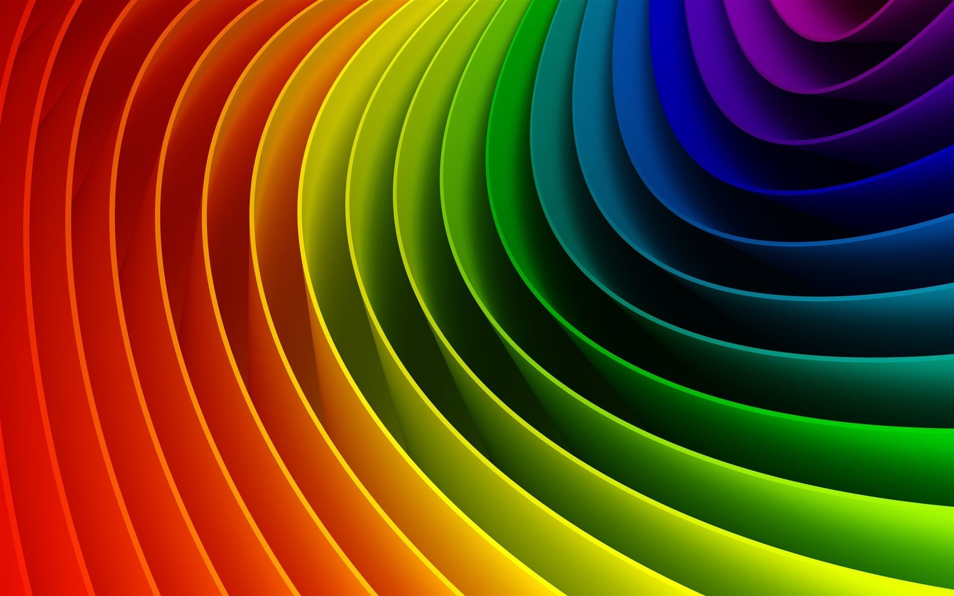Arco Iris De Colores Curvas