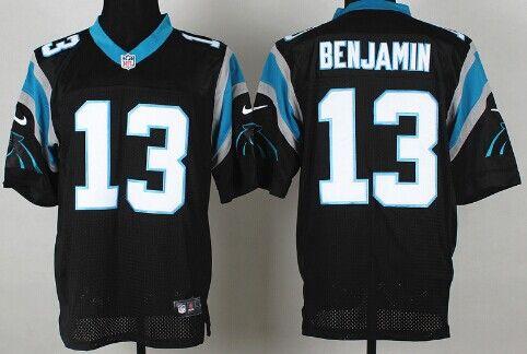 e4b7e4ea Nike Carolina Panthers #13 Kelvin Benjamin Black Elite Jersey | NFL ...