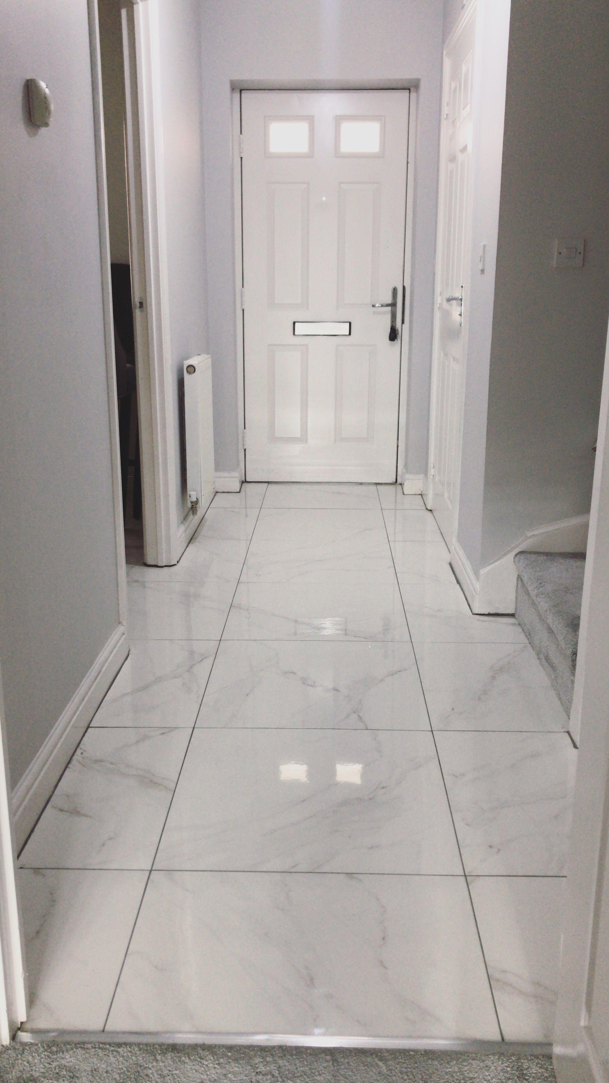 Grey Hallway Grey Hallway Tiled Hallway Tile Floor Living