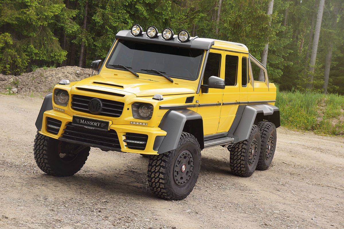 The Mansory Mercedes Benz G63 Amg 6x6 Is Downright Brutal With