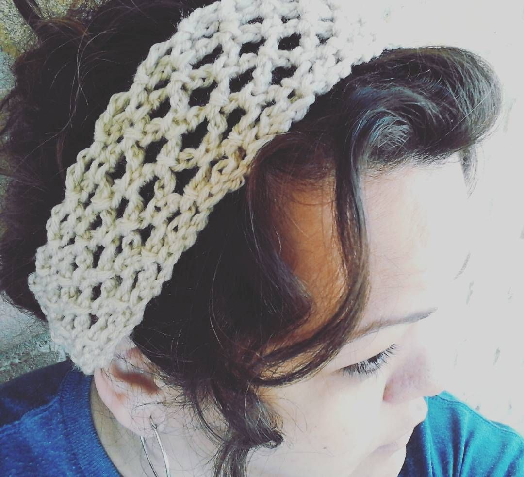 Too dang hot and humid! Need to put my hair up :-) #crochet ...