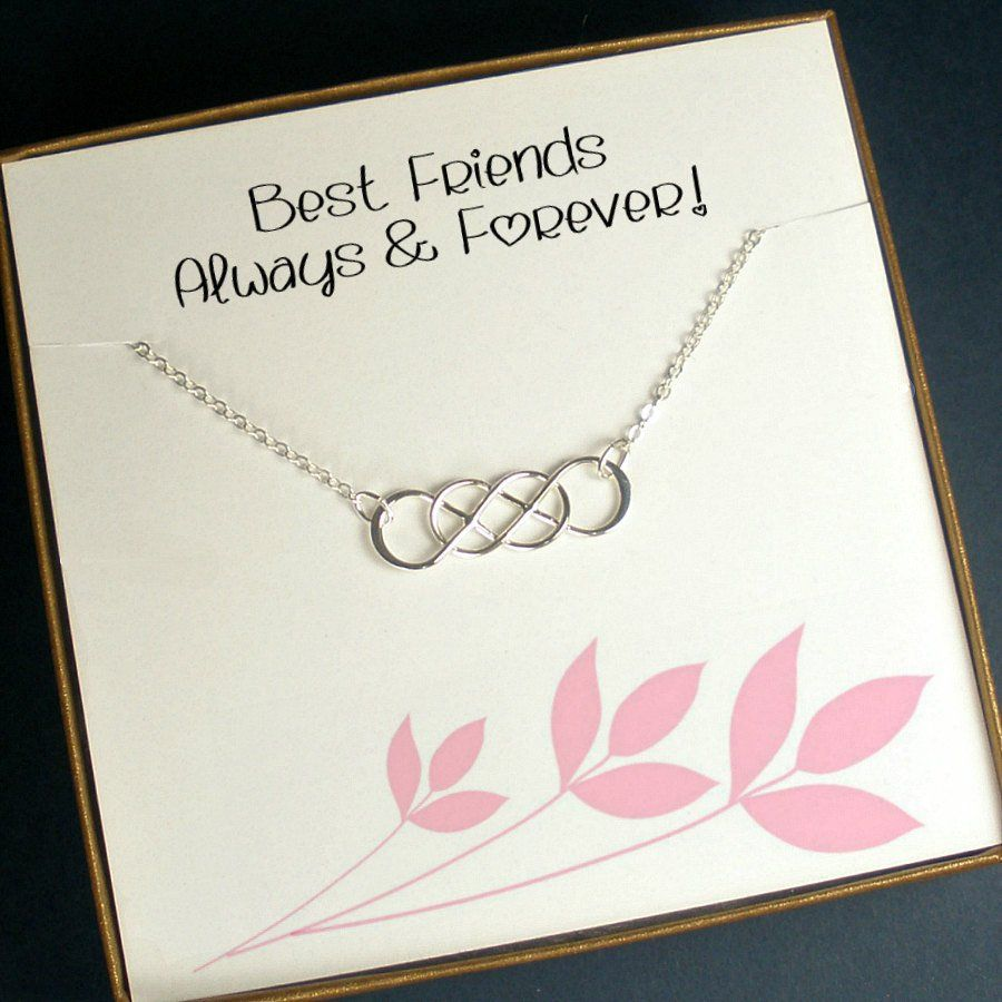 Best friend gift infinity friendship necklace sterling