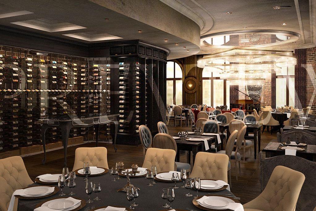 wine restaurant vine rest restaurant interior 3d