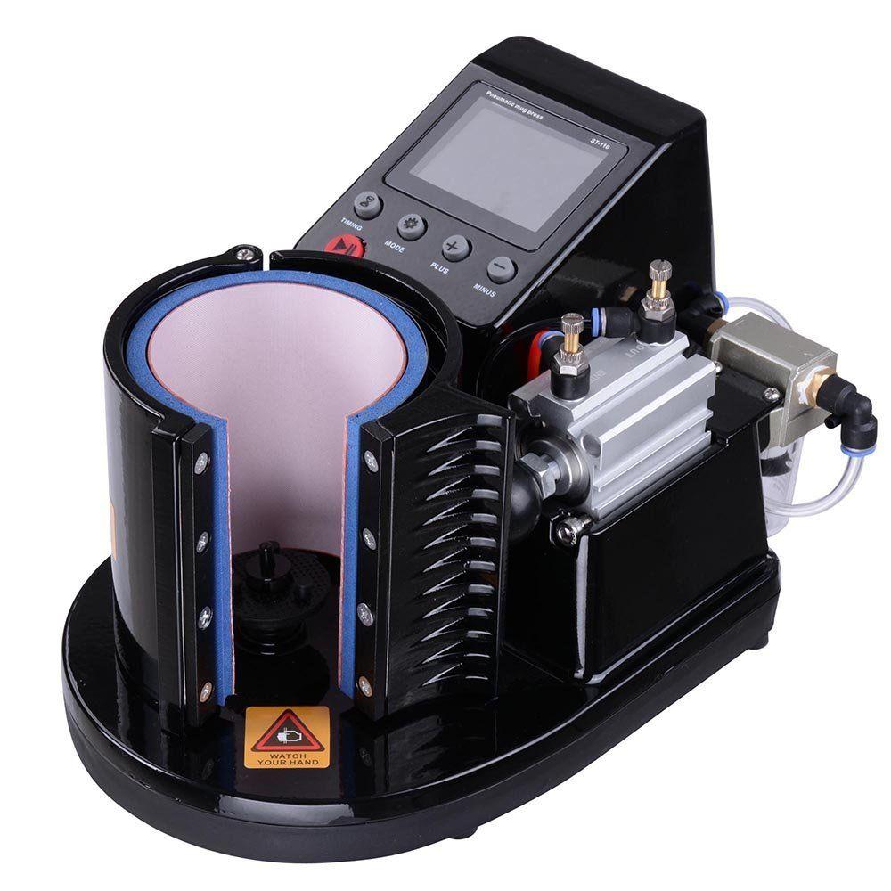 Automatic pneumatic mug heat press