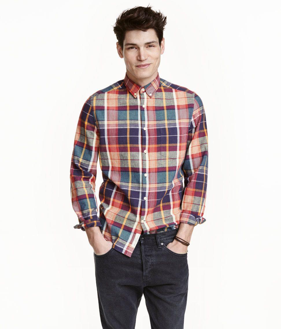 9f7247005b Linen-blend Plaid Shirt