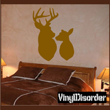 Deer Family Wall Decal - Vinyl Decal - Car Decal - NS002
