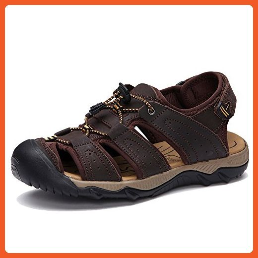 062c7191e2e247 Agowoo Womens Athletic Closed Toe Hiking Sandals Brown 39 8 D(M) - Outdoor  shoes for women ( Amazon Partner-Link)