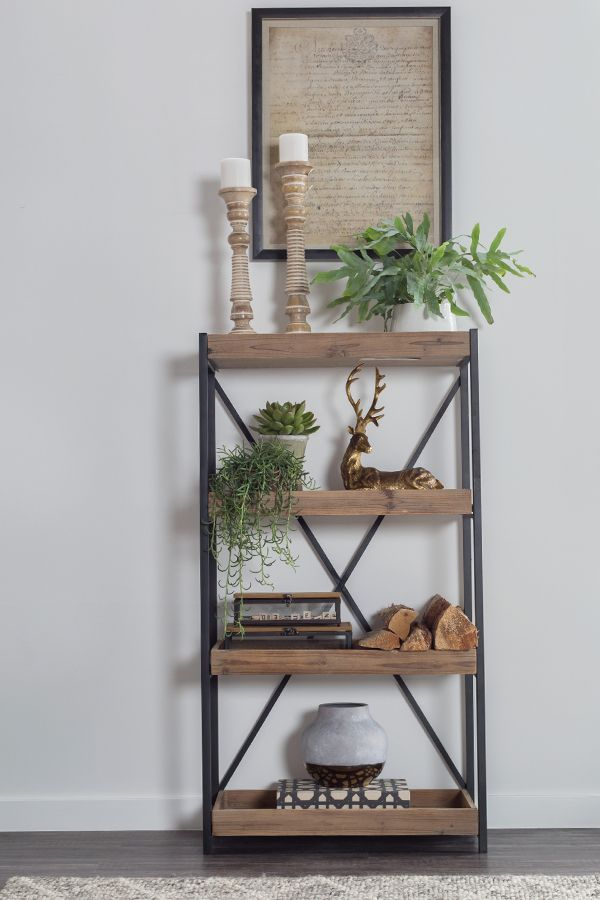 wood rugged wrought reclaimed notspecified look industrial pin bookshelf iron bookcase bookcases solid