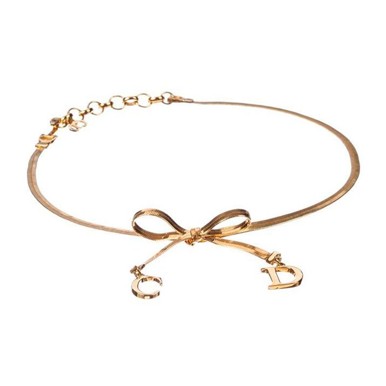 af945b1fd53ea Christian Dior Bow Choker Necklace in 2019 | Dior | Bow choker, Bow ...
