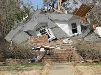 Hurricane katrina destruction and devastation