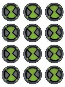 12 ben 10 omnitrix edible icing cupcake topper images ben 10