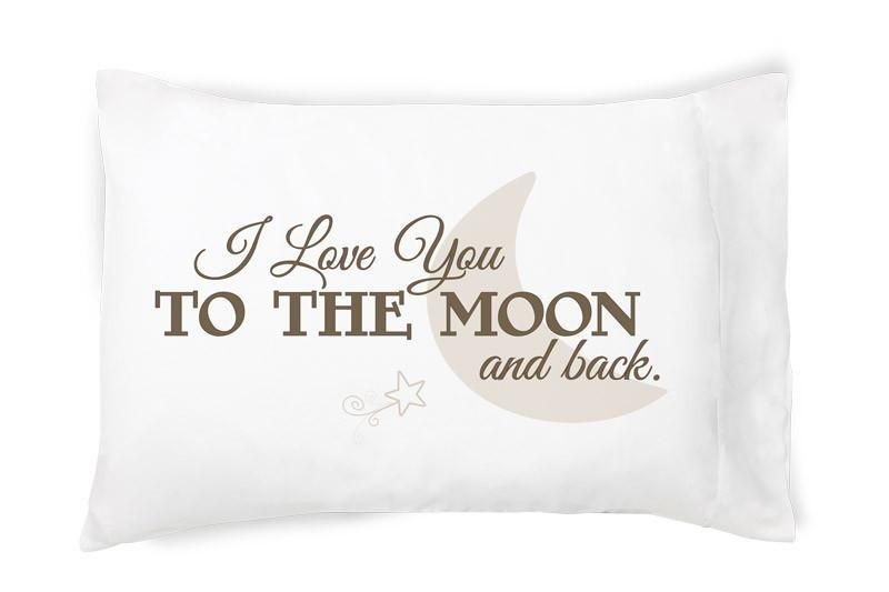 Faceplant Pillowcases Stunning I Love You To The Moon And Back Pillowcase  Moon And Products Review