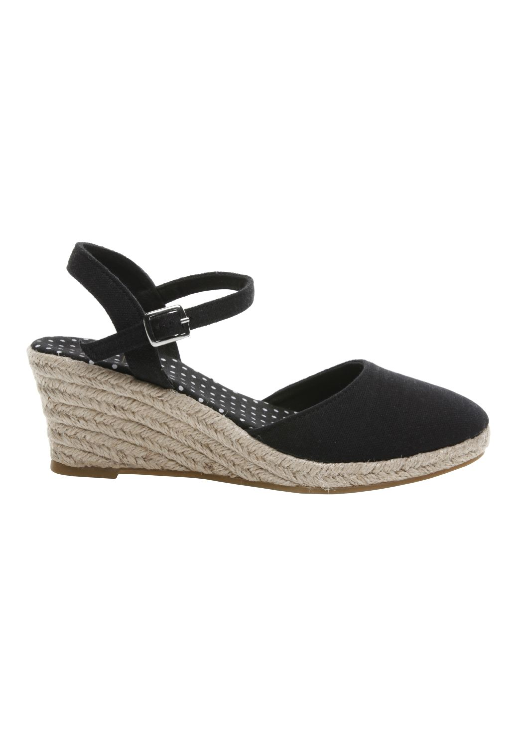 clothing at tesco f espadrille closed toe wedge sandal sandals