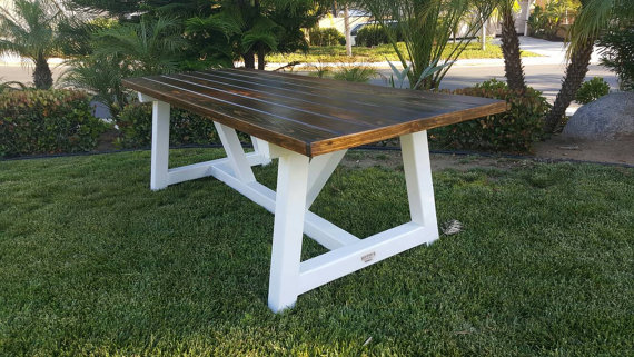 All Wood Custom Built Picnic Table Choose Your Stain Or Paint Color Clear