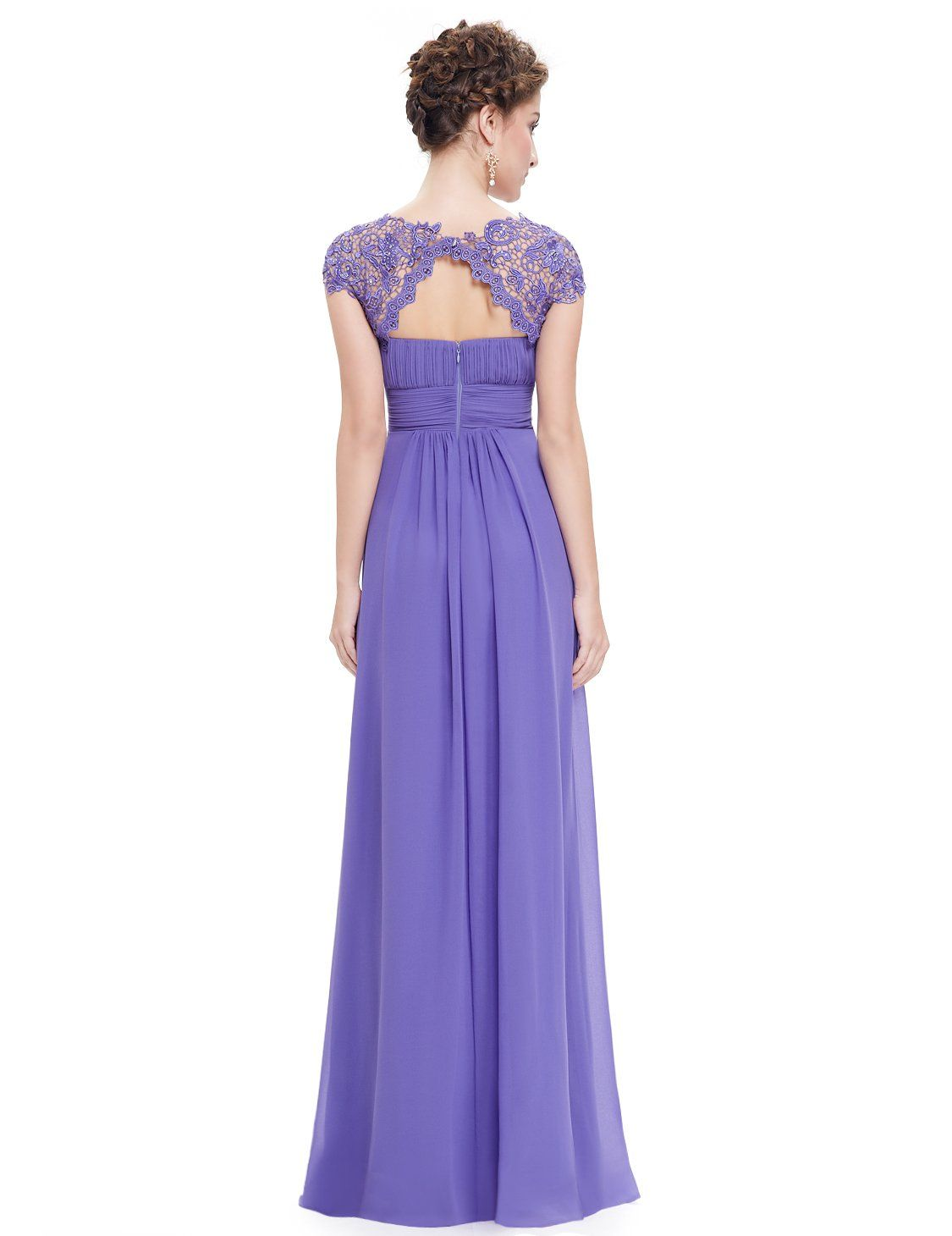 7ef1c0a9153 Maternity Styles - smart maternity maxi dress   EverPretty Womens Cap Sleeve  Lace Neckline Ruched Bust Evening Gown 4 US Periwinkle     Check out the  image ...