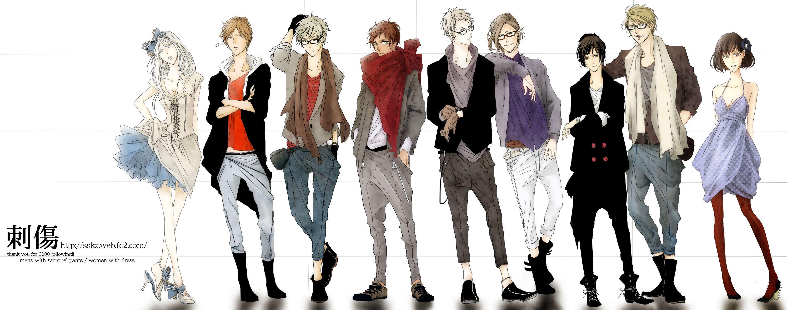 Anime Character Design Styles : Http zerochan  anime outfits pinterest