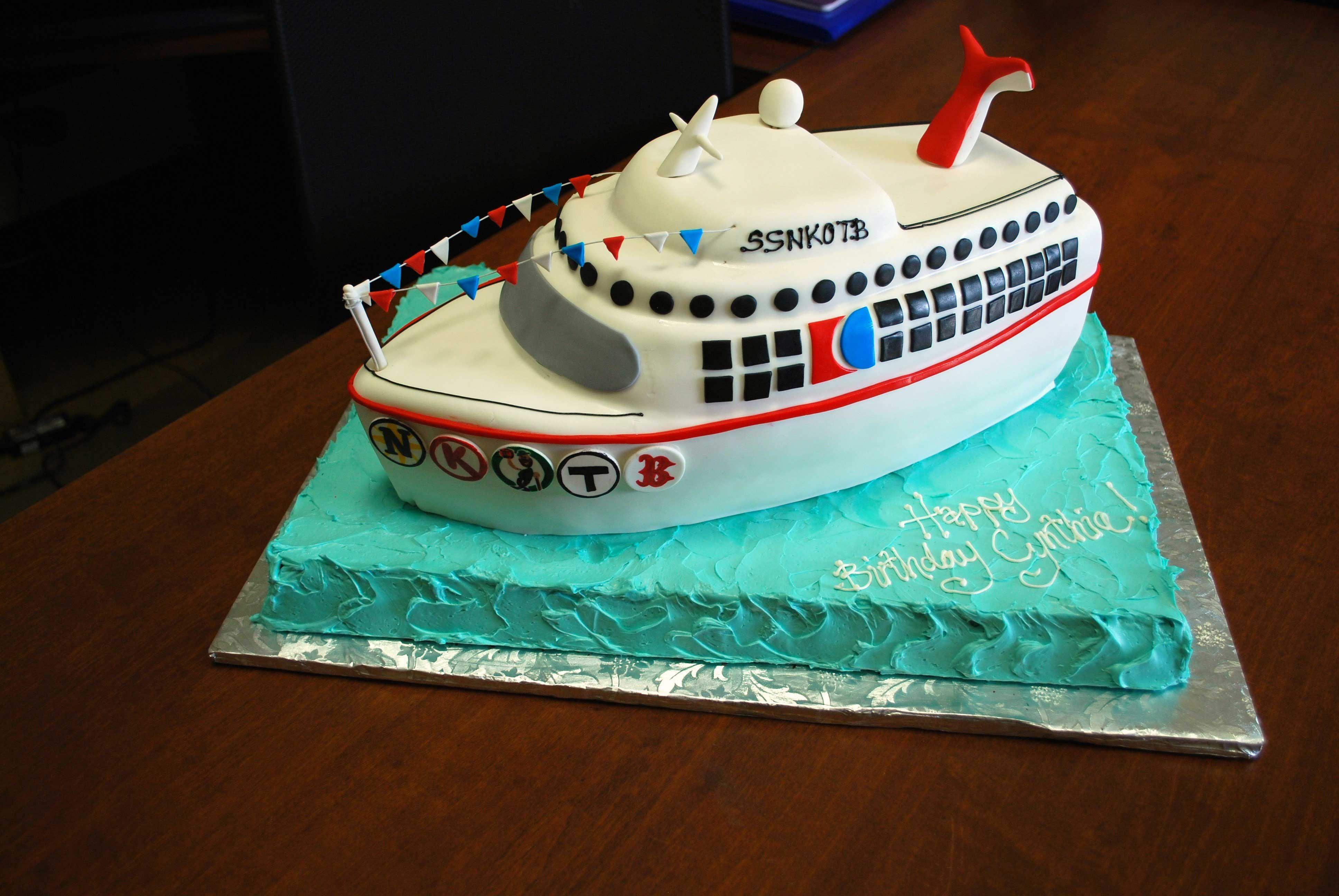 Strange Cruise Ship Cake With Images Boat Cake Nautical Wedding Cakes Funny Birthday Cards Online Inifofree Goldxyz