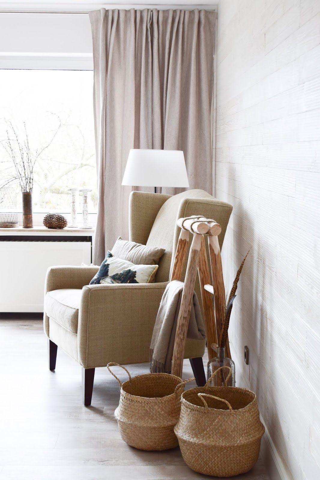Holzleiter Deko Dekoidee Wohnzimmer Interior Natürlich Dekorieren