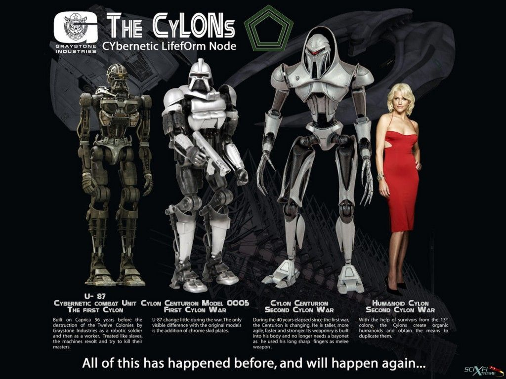 Battlestar Galactica Cylon Evolution Image Dark Force Science