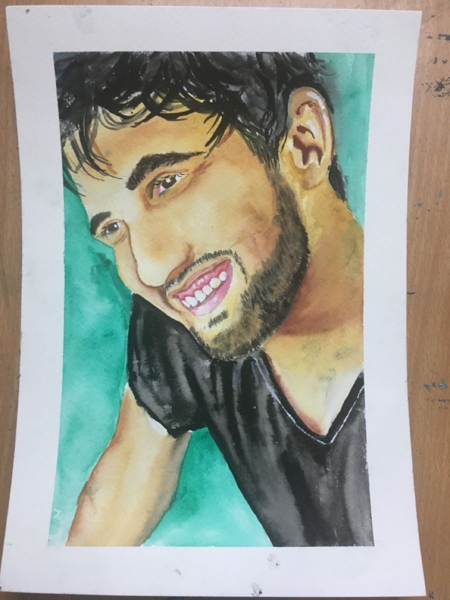 #watercolorarts #selfportraitphotography #painting