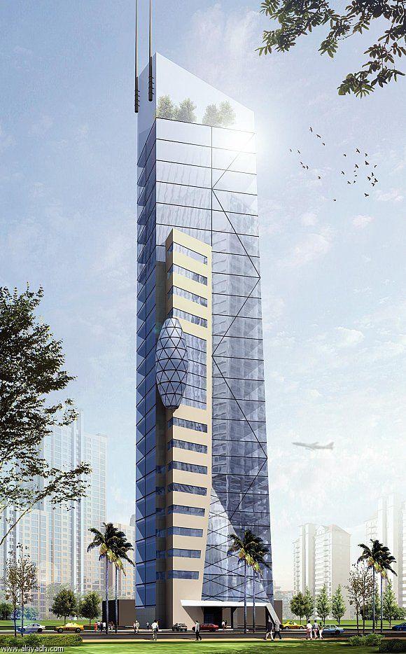 برج النخيل مكتمل Skyscraper Facade Tower