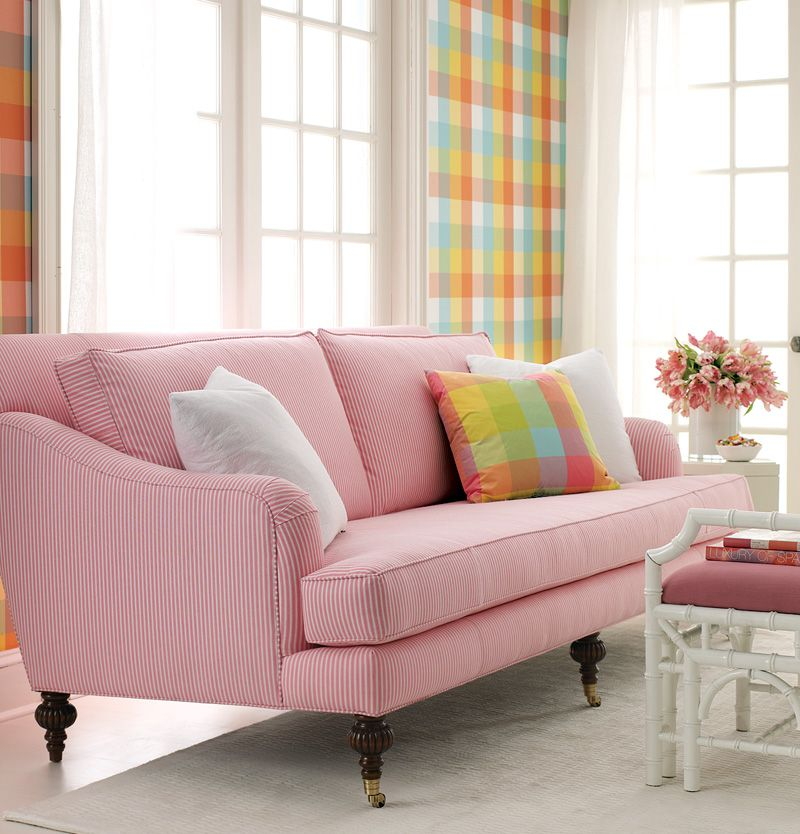 Like the pink sofa that\'s the star of this show, but check out those ...