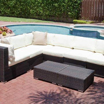 Source Outdoor Manhattan All Weather Wicker Sectional Item Hn