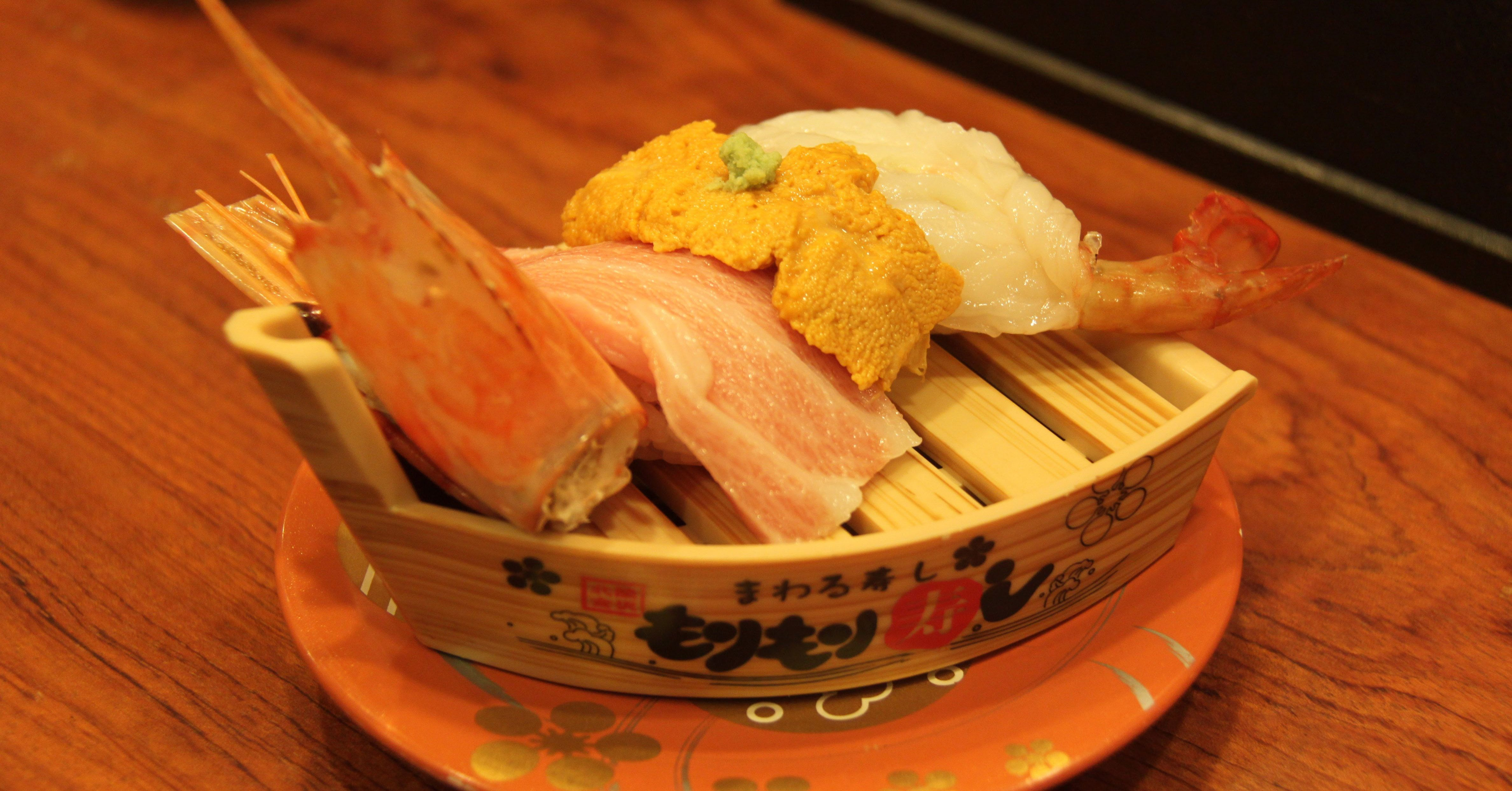 金澤-近江町市場 の 壽司下午茶 (日本–名古屋,岐阜及北陸之旅)   Gifu, Nagoya, Takayama