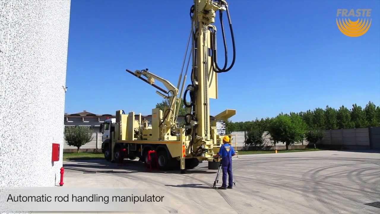 Fraste FS 500 Drilling Rig with Manipulator Rods Loader | Drills