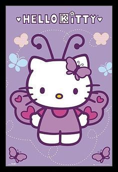 Hello Kitty - Butterfly Poster Poster Print