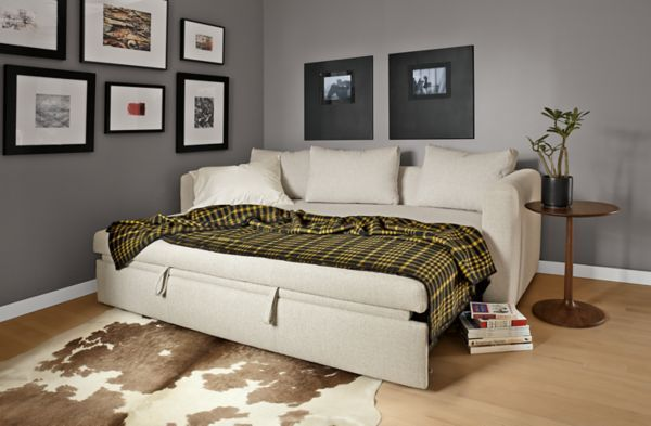 Modern Oxford Pop Up Platform Queen Sleeper Sofa In Dawson Charcoal 91 Fabric