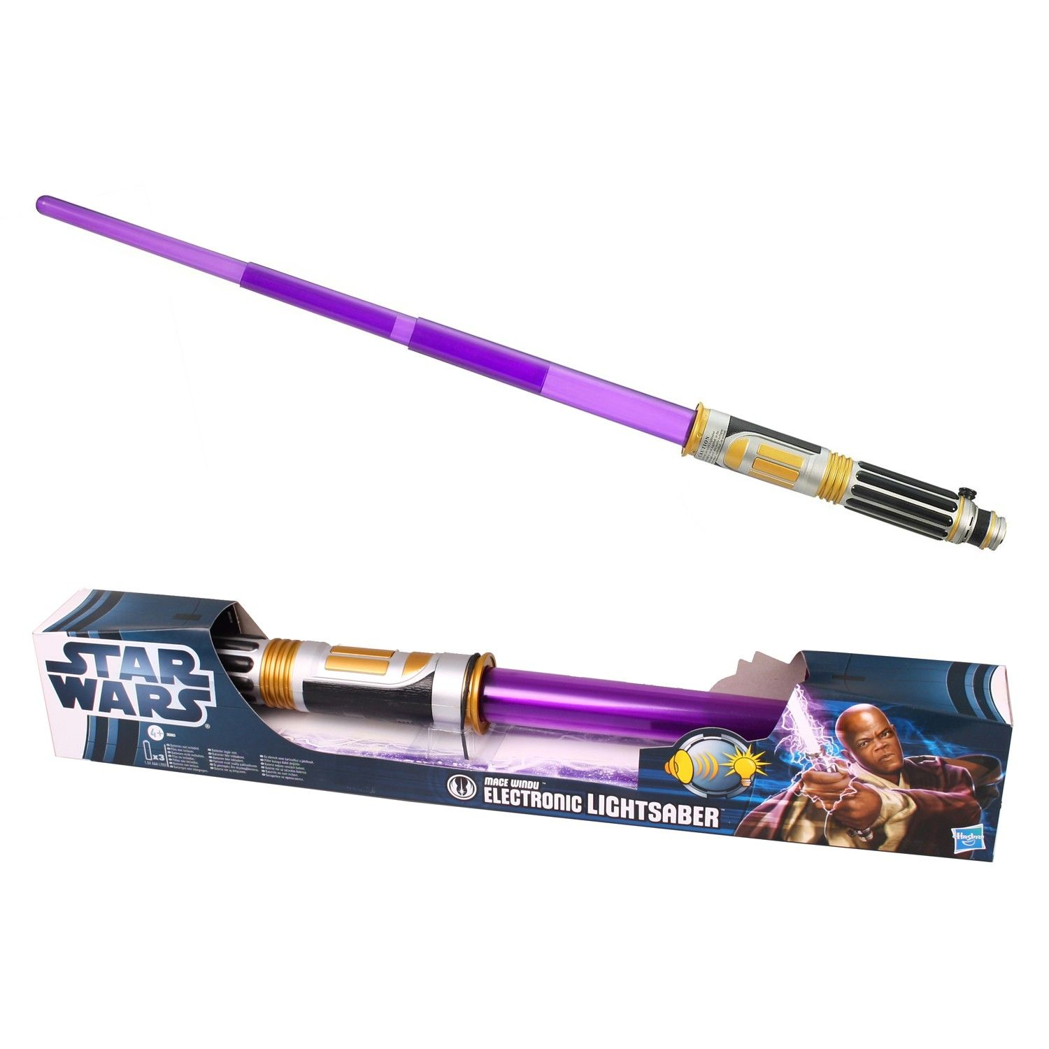 Revenge Of The Sith Mace Windu Electronic Lightsaber Action Toy Figures Toys Games Star Wars Action Toy Figures Statues Maquettes Busts