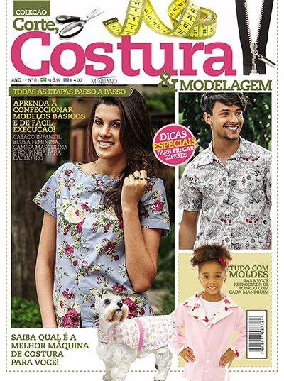 Artesanato - Tecidos - Corte Costura : CORTE COSTURA E MODELAGEM 001 - Editora Minuano