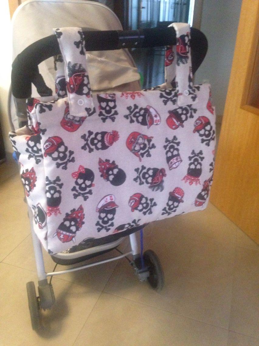 Bolso calaveras DIY carrito bebe