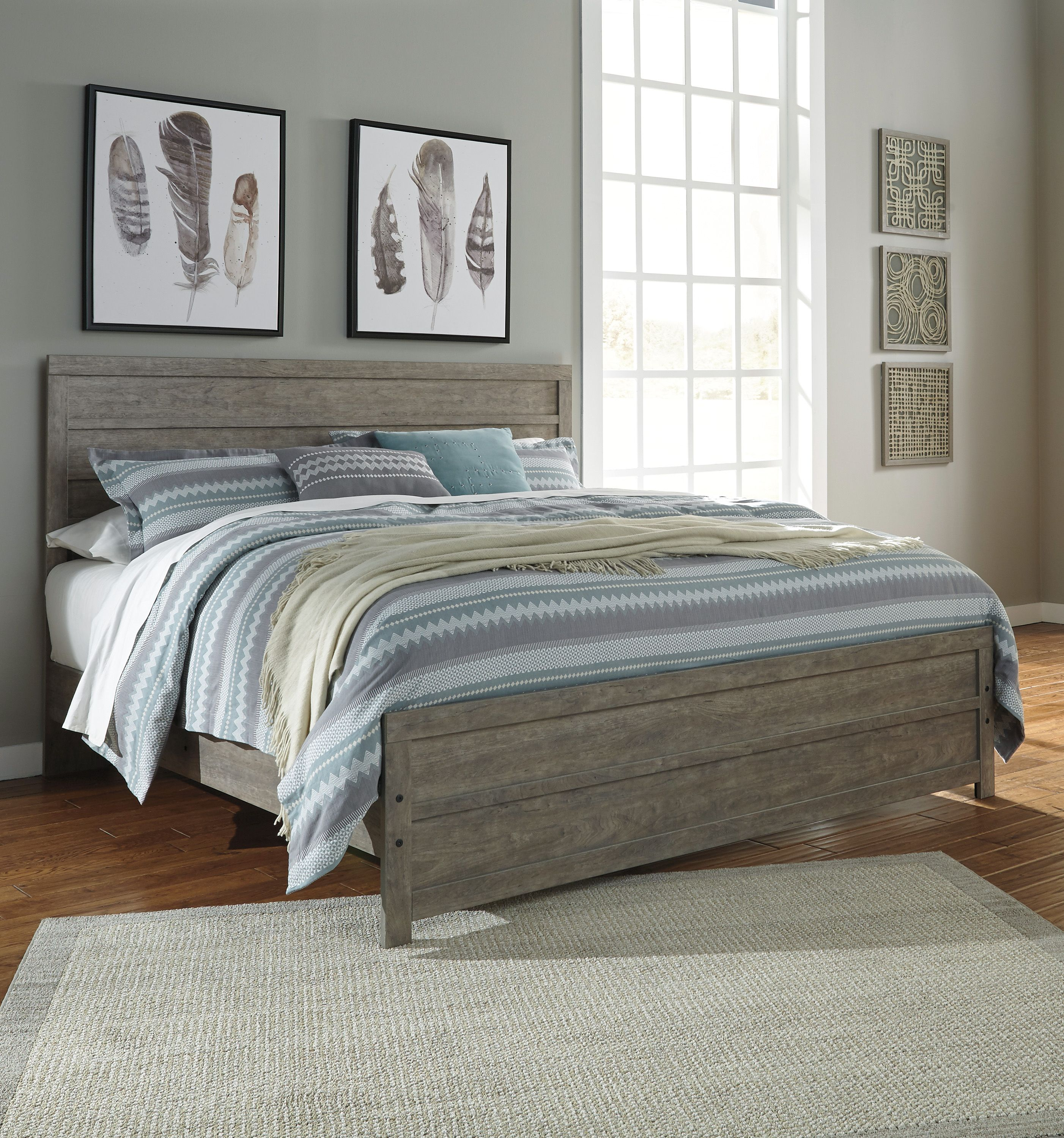 Culverbach 3 Piece Queen Panel Bed Bed, Panel bed, Panel