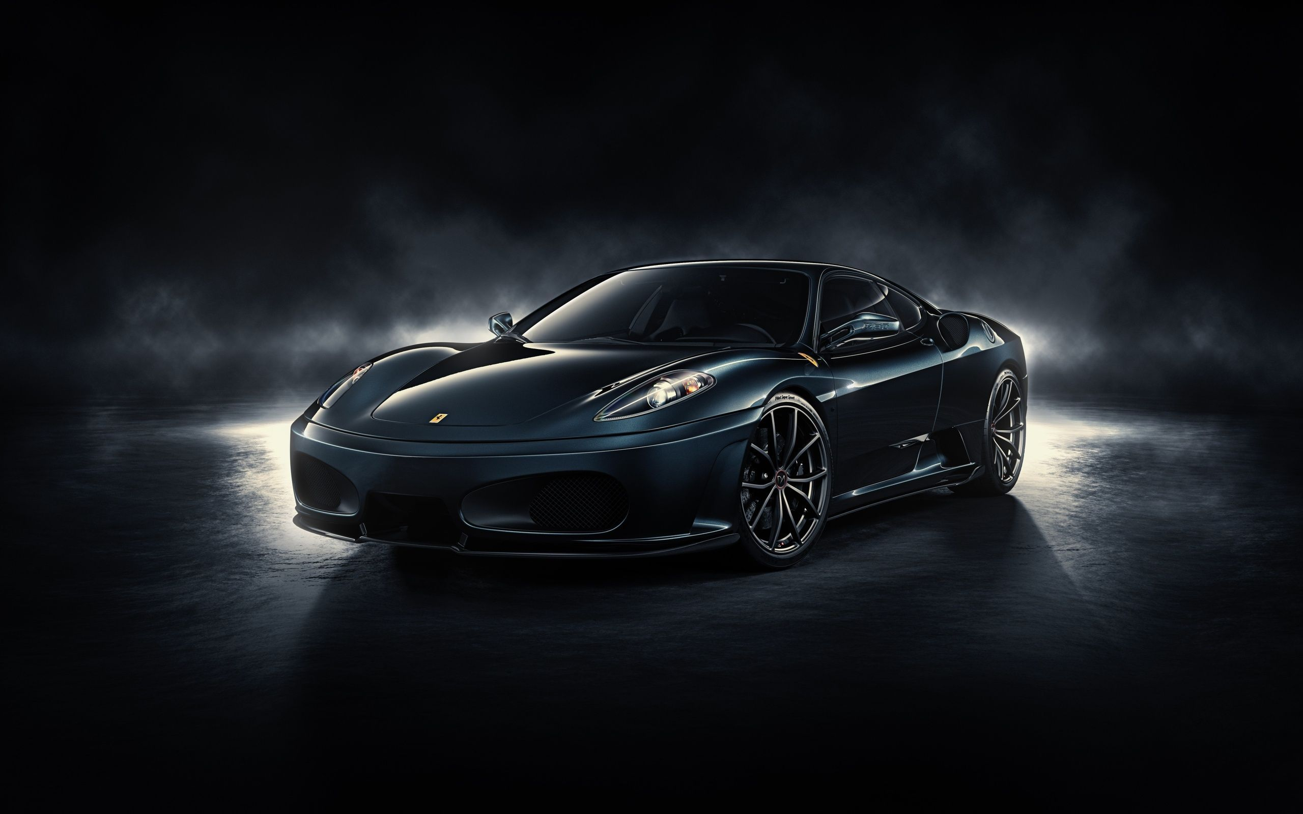 Cool Car Wallpaper With Black Ferrari In Dark Background - Cool cars photos download