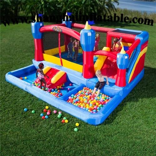 988.00$  Buy here - http://alioim.worldwells.pw/go.php?t=32653853453 - Discount hotsale kindergarten Creative children indoor playground inflatable bounce house and slide combo 988.00$