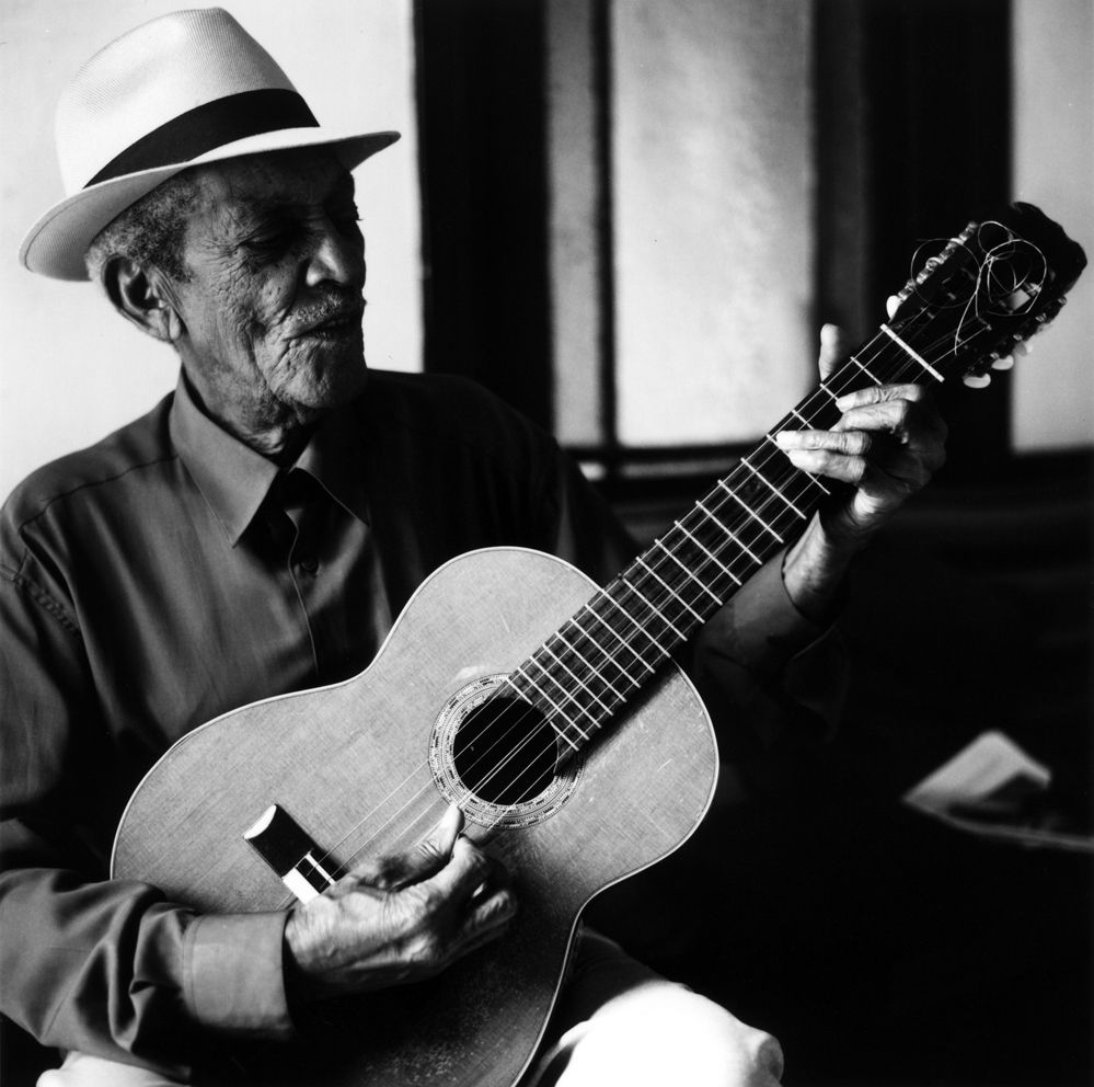 """Compay Segundo - Cuban guitarist who rose to prominence pre-revolution and experienced a comeback and worldwide recognition in his early nineties via Ry Cooder's """"Buena Vista Social Club."""""""