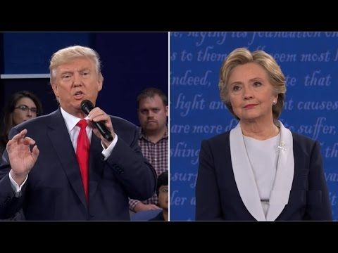 FULL: Second Presidential Debate - Donald Trump vs Hillary Clinton - Was.