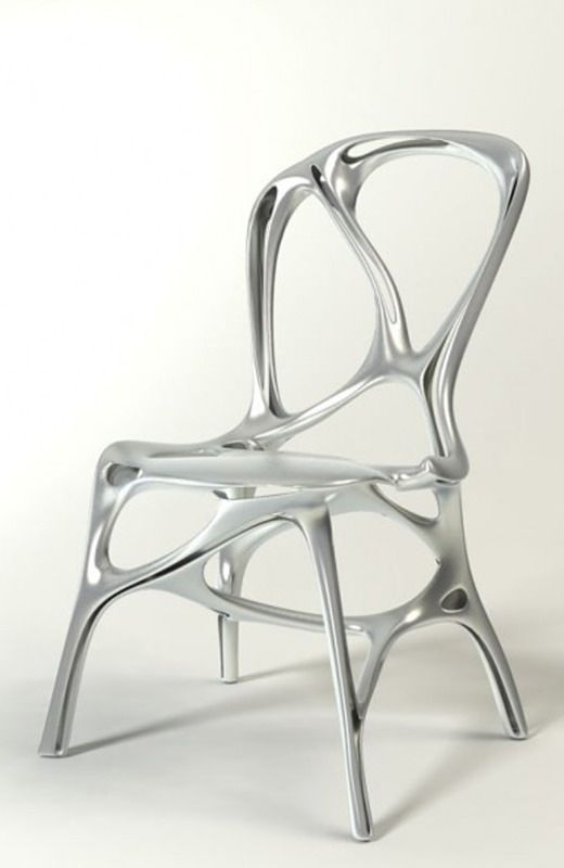 Scribbly Aluminum Seating | Futuristic furniture, Modern and Natural