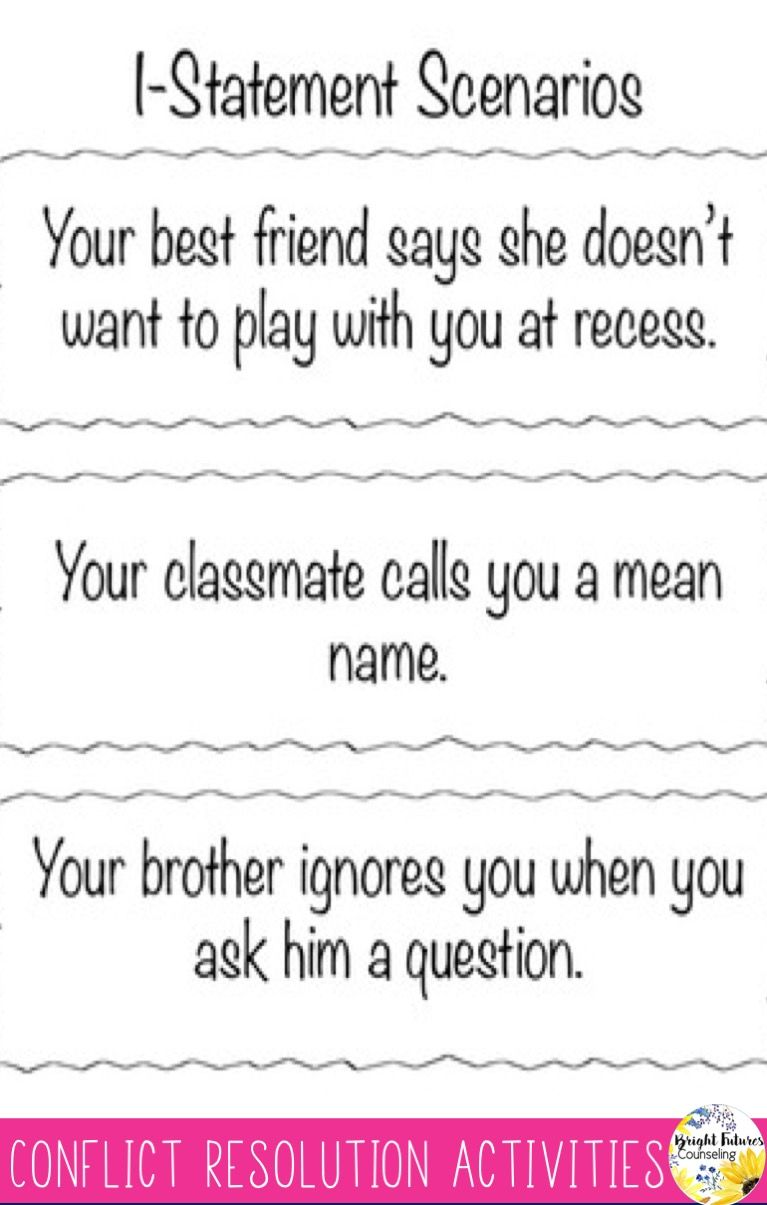 worksheet Conflict Worksheets wild about i statements conflict resolution worksheets and activities
