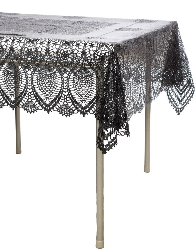 Exceptional BLACK VINYL CROCHET LACE TABLE CLOTH We Know How Much You Love Our Vinyl  Lace Placemats