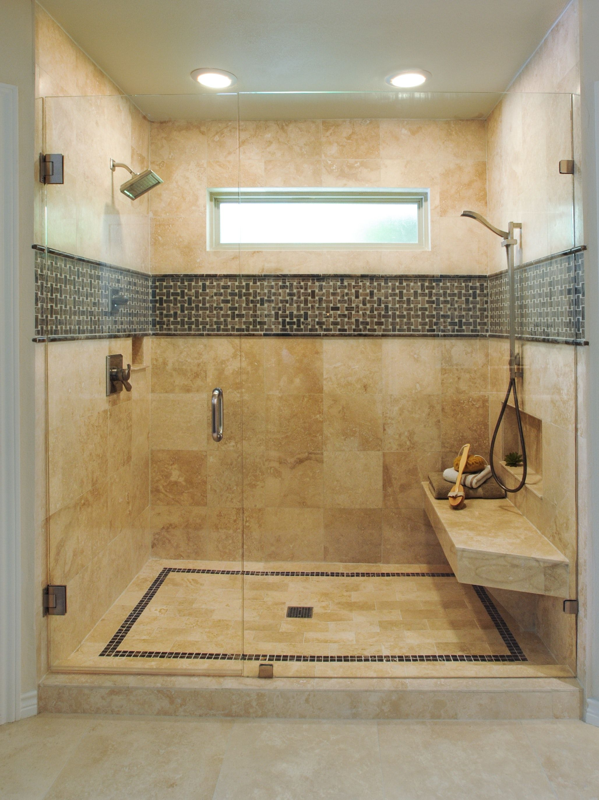 Double Shower Replaces Former Garden Tub Tub To Shower Remodel