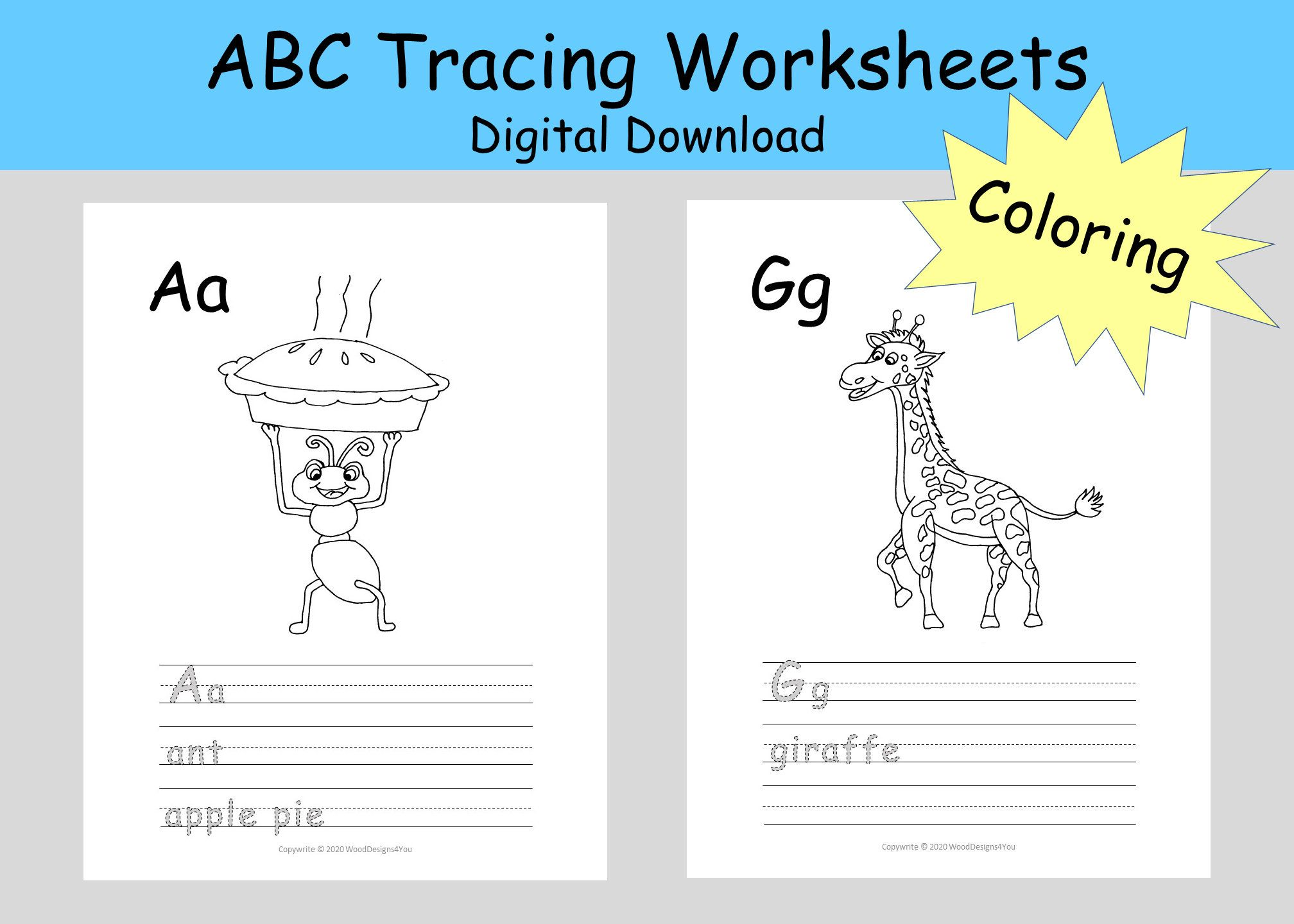 Instant Abc Tracing Worksheets
