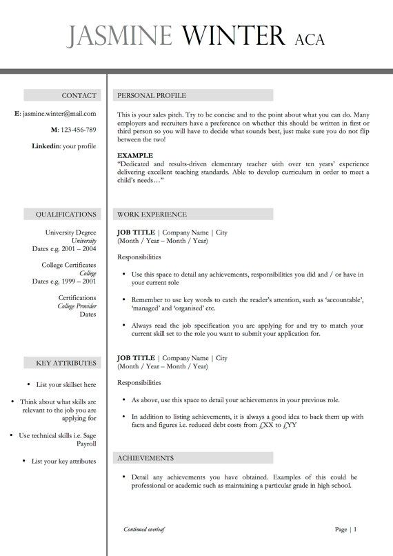 Professional Two Page Resume + Cover Letter MS Word Compatible - 2 page resume sample