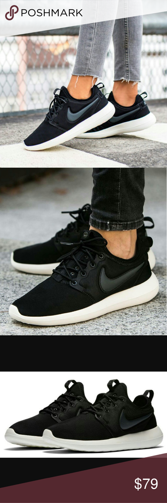 359f0747e98b NWT Nike Roshe Two Black White Shoe - New in Box! - Great summer neutral  for working out and running - Fit true to size Nike Shoes Athletic Shoes